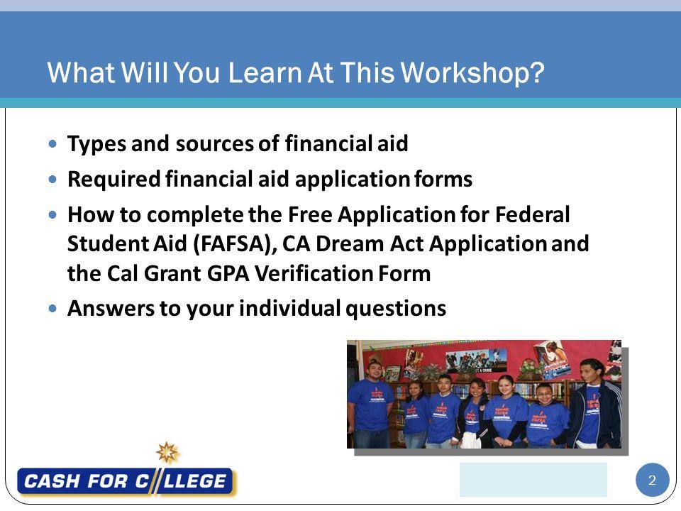 Applying for Financial Aid Yvonne Borrego, Financial Aid Counselor ...