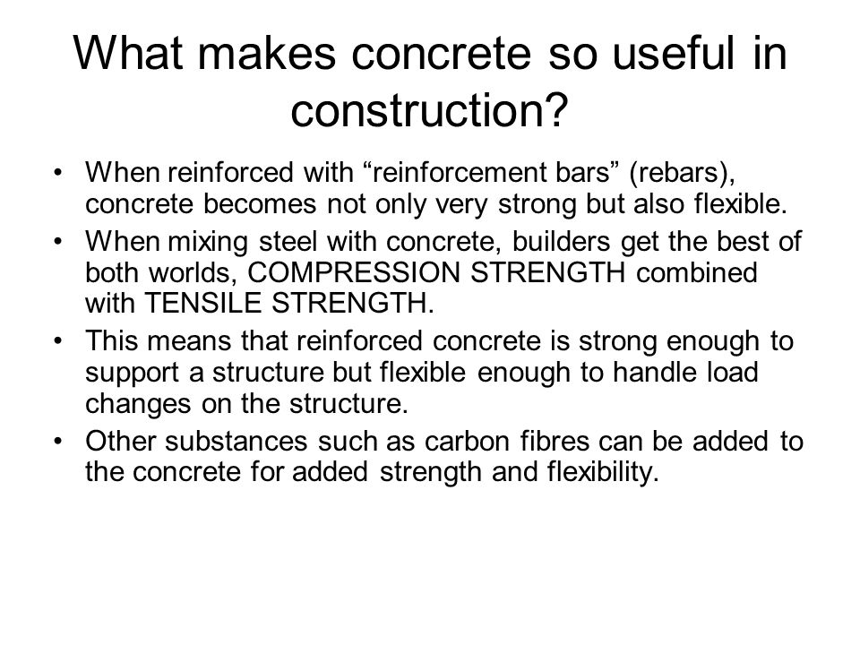 Concrete Is A Mixture Or Cement