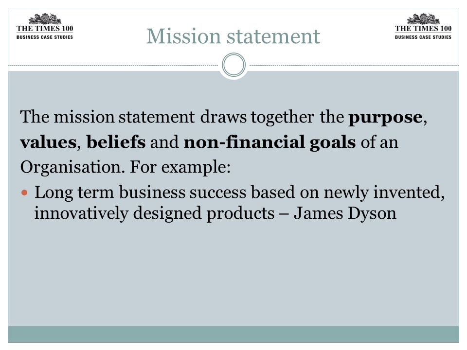 dyson mission and vision
