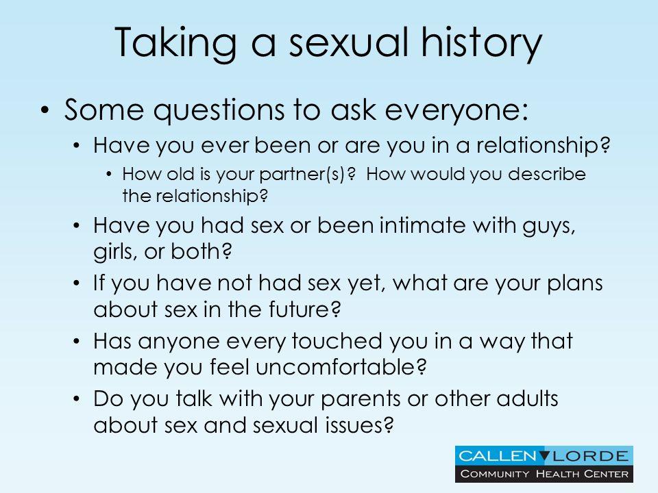 History question regarding sexual