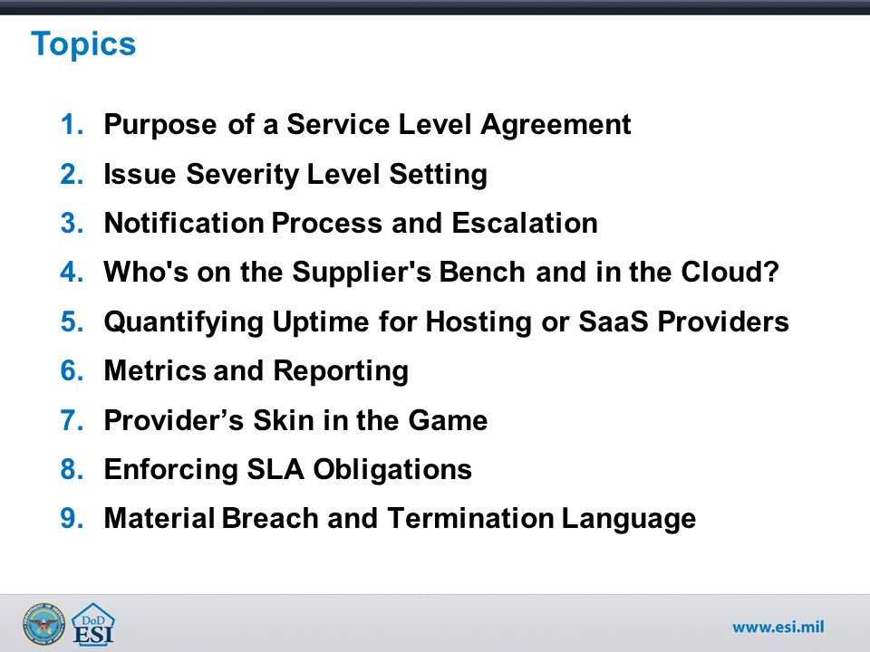 Cots Software Licensing Service Level Agreement Considerations Ppt