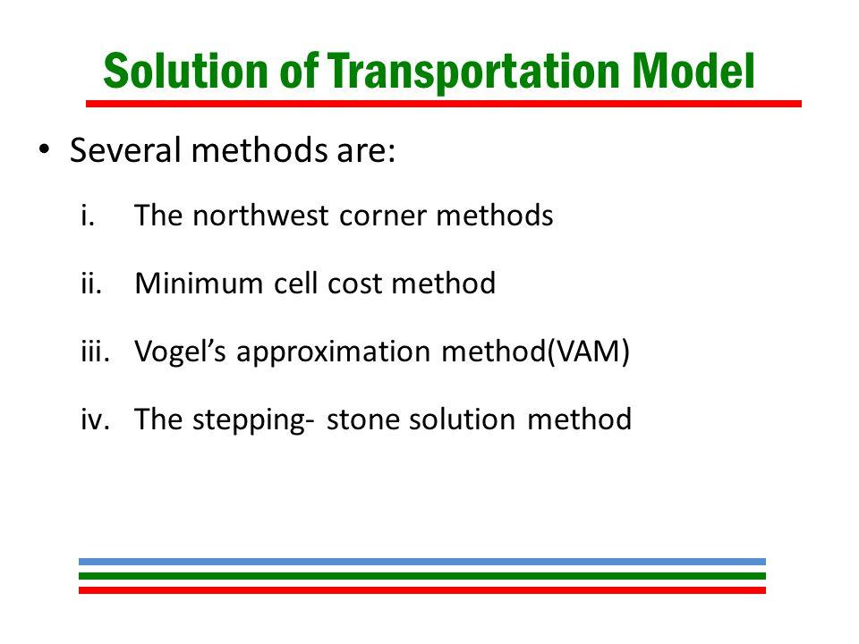 Distribution Model Meaning Types Transportation Model