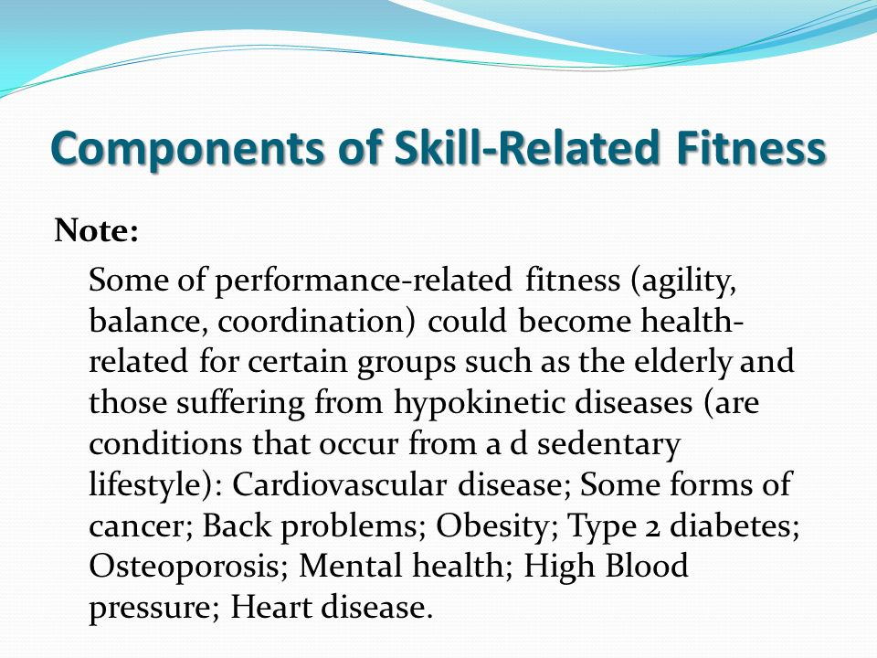 Note Some Of Performance Related Fitness Agility Balance Coordination Could