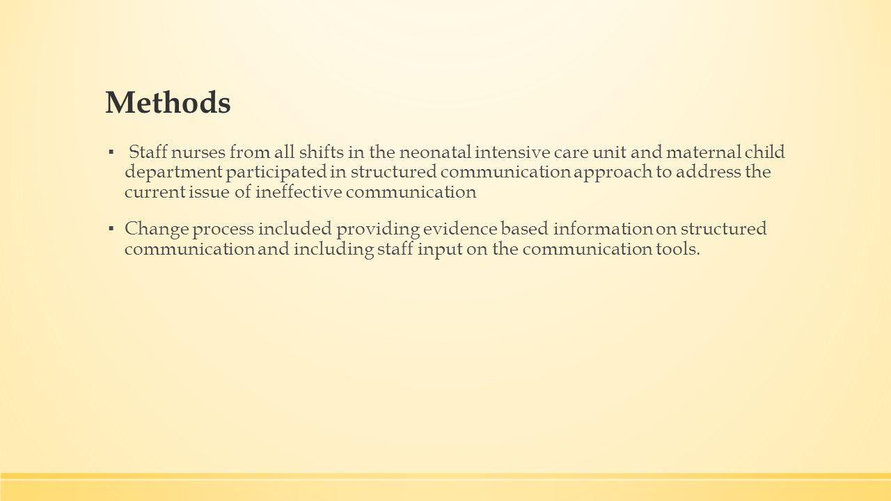 NICU Communication Improvement University of San Francisco Mater of