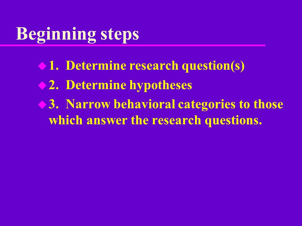 observational research questions