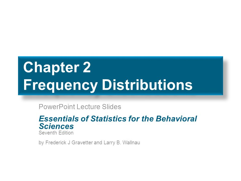 Statistics For Behavioral Sciences Gravetter Pdf