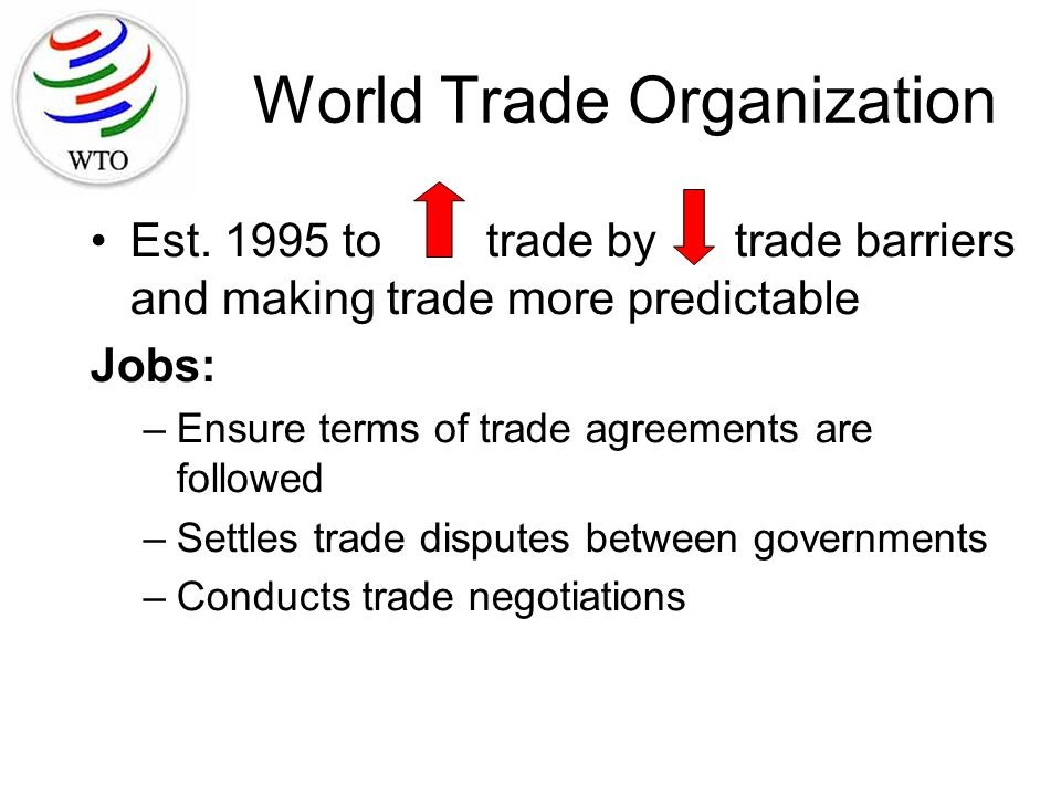 an overview of world trade organization The basel declaration on environmentally sound management, for example, emphasizes the value of cooperation and partnership at all levels among countries, public authorities, international organizations, the industry sector, non-governmental organizations and academic institutions, including the world trade organization (wto.