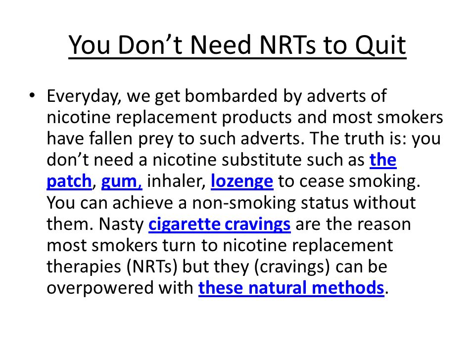 After Quit Smoking, Abstain from Nicotine In Any Form By