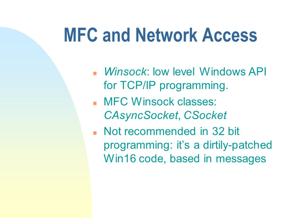 Introduction to MFC Microsoft Foundation Classes  - ppt download