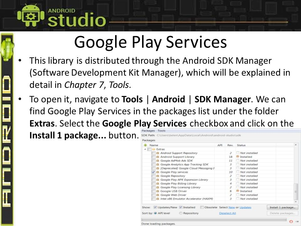 Chapter 6 Google Play Services GOALS & OBJECTIVES Google