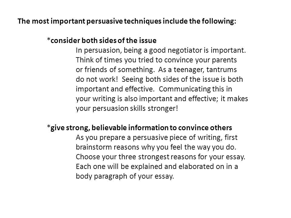 persuasive piece of writing