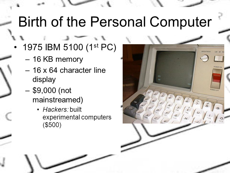 UNDERSTANDING COMPUTERS From the Beginning: History of the Computer