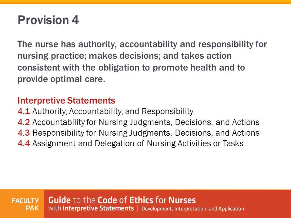 ana code of ethics for nurses provision 3