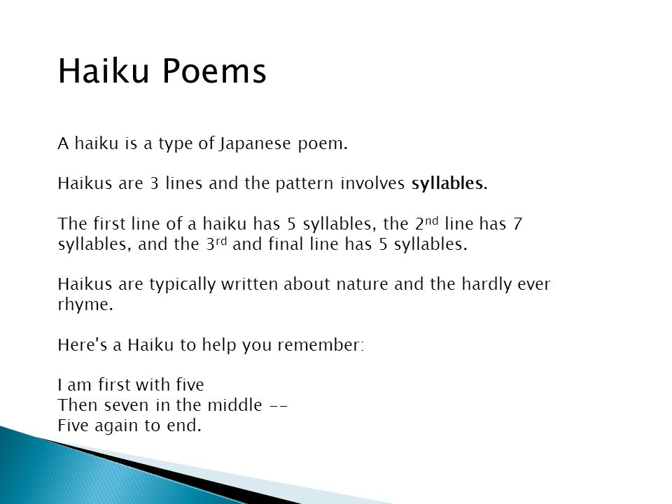 Hi Boys And Girls Today You Will Learn About Four Different Types Beauteous What's The Pattern Of A Haiku