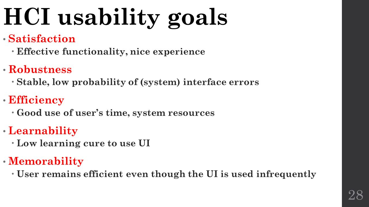 Usability and User Interfaces CS 560  Human Computer