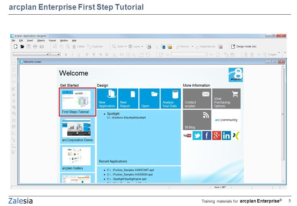 arcplan enterprise application designer