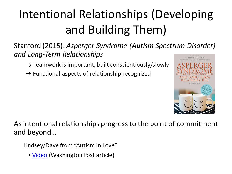 Intentional Relationships Scott Kramer, MSEd April Jagger