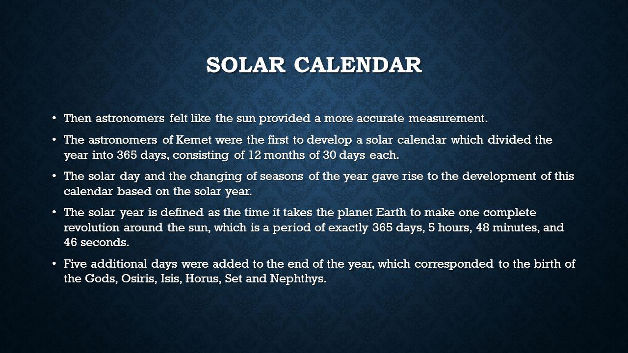 CALENDARS The Creation of the Calendar  THE LUNAR CALENDAR