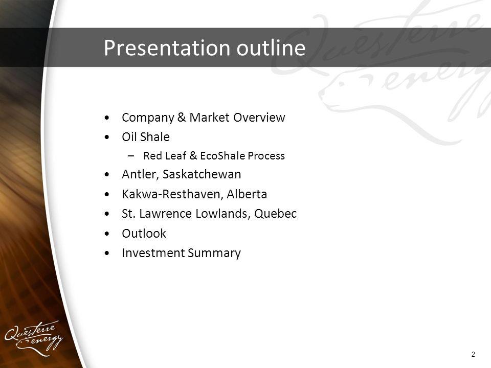 Corporate Presentation May Presentation outline Company & Market