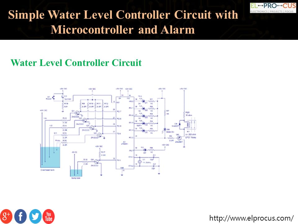 Simple Water Level Controller Circuit With Microcontroller And Alarm