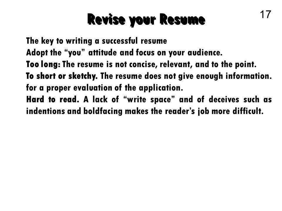 business communication 1 the chronological resume 2 the