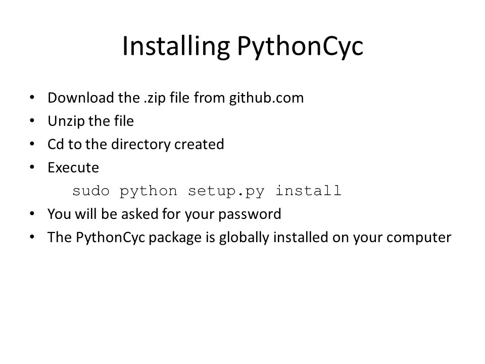 PythonCyc and other APIs A Python package to access Pathway