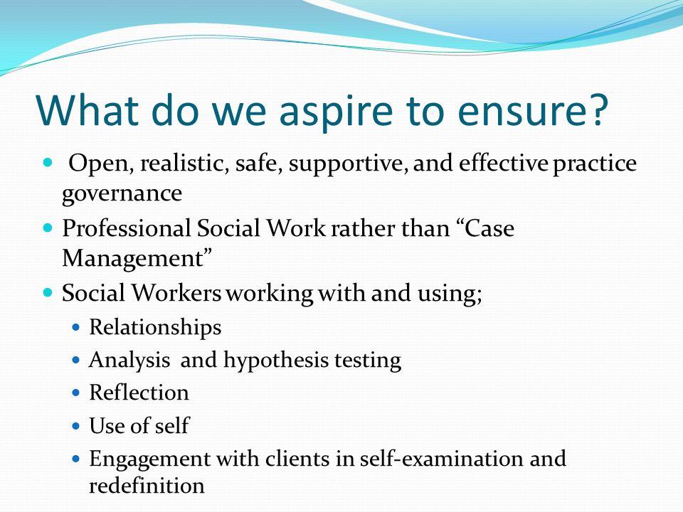 aspire model in social work
