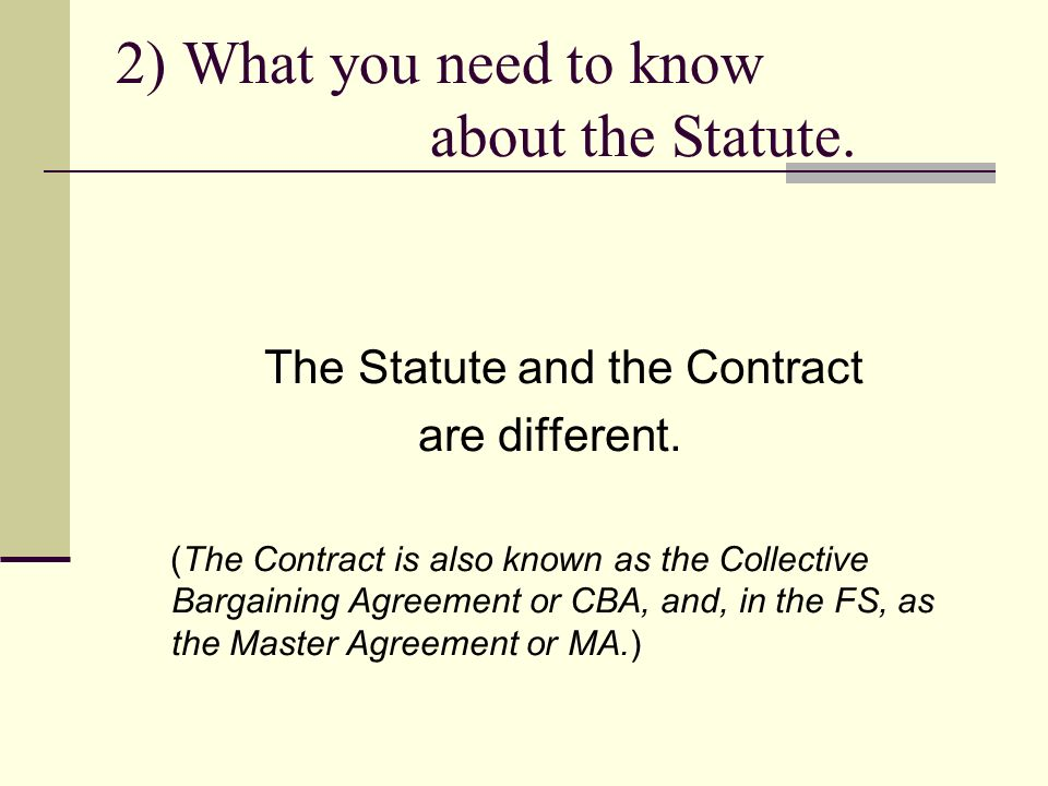A Brief Overview Of The Labor Management Relations Statute John R