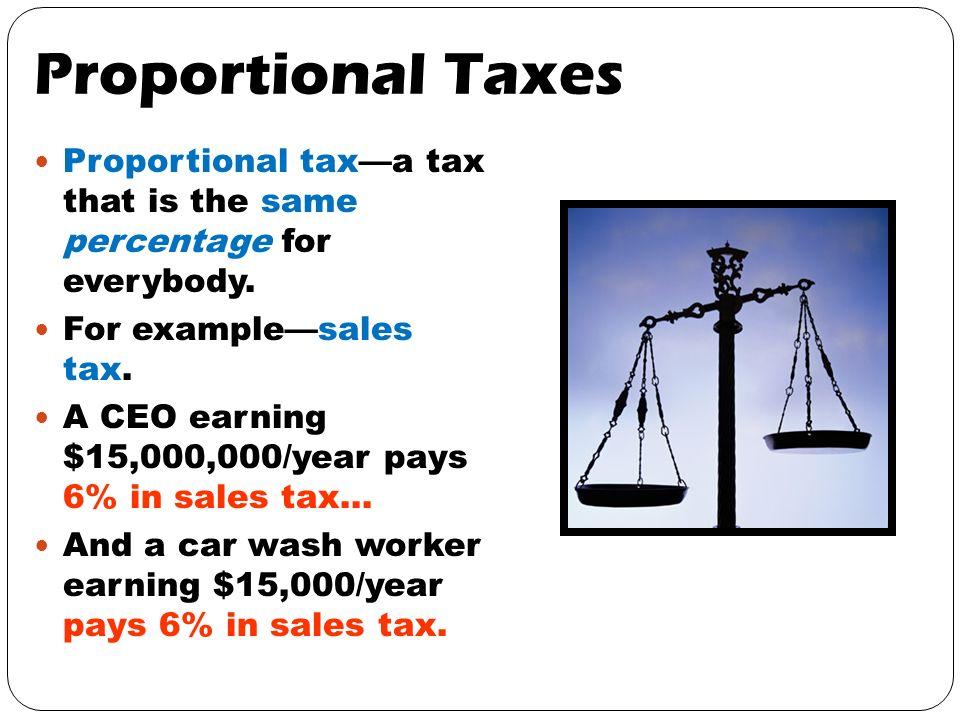 Taxes Essential Standards The Student Will Define Progressive