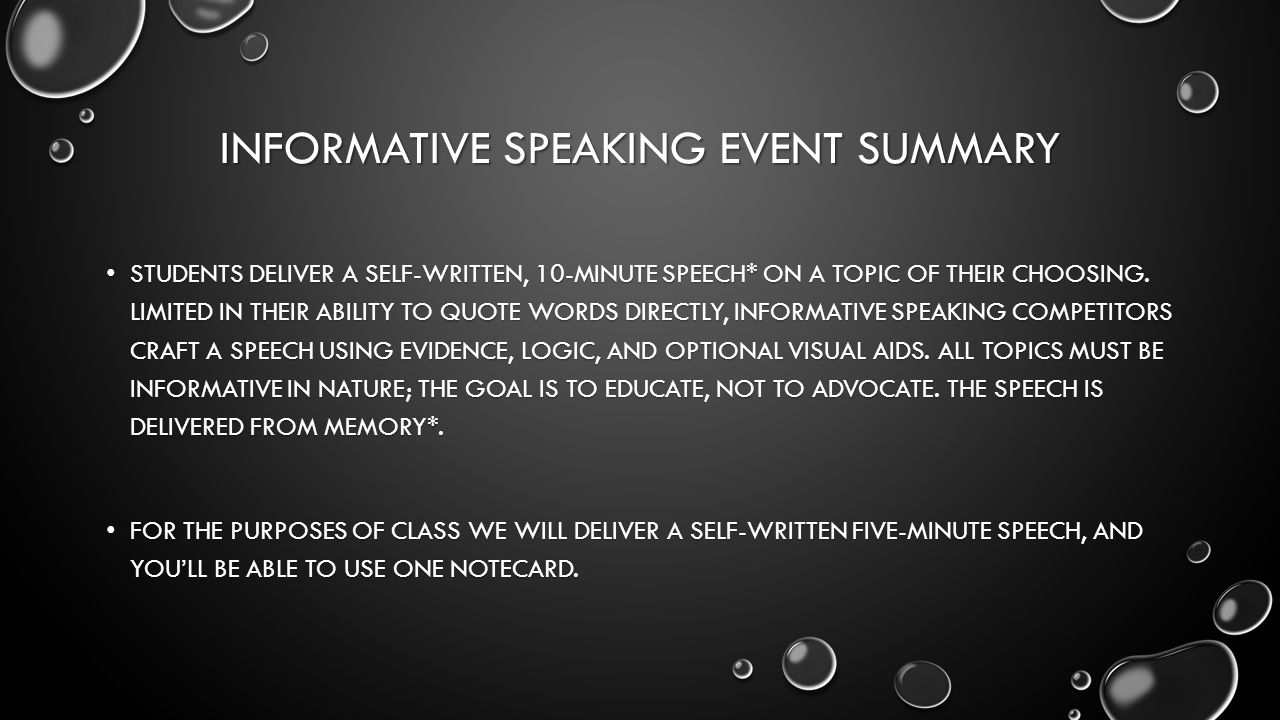 10 minute speech topics