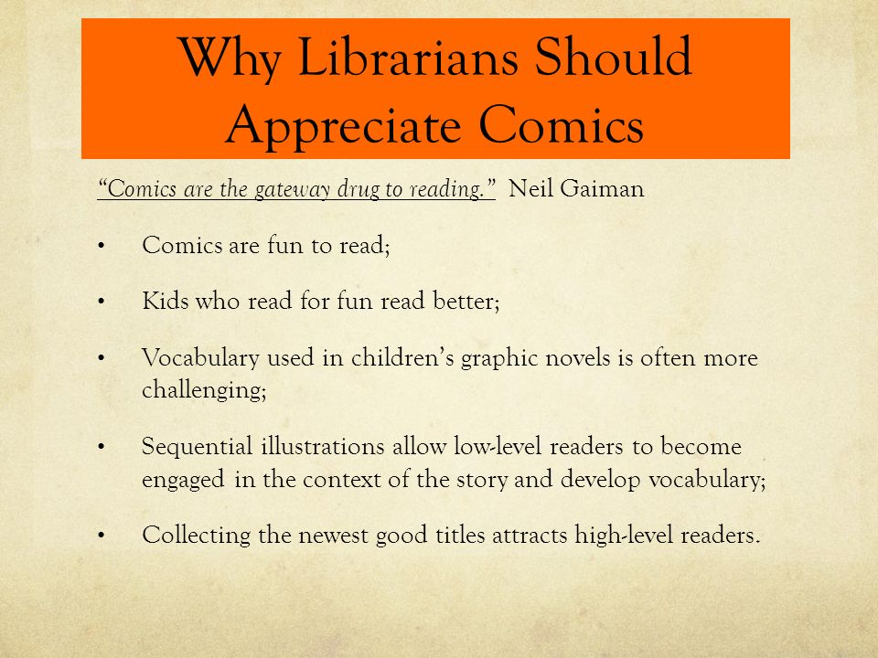 APPRECIATING COMICS (or not) Why I Like Some Comics and Not