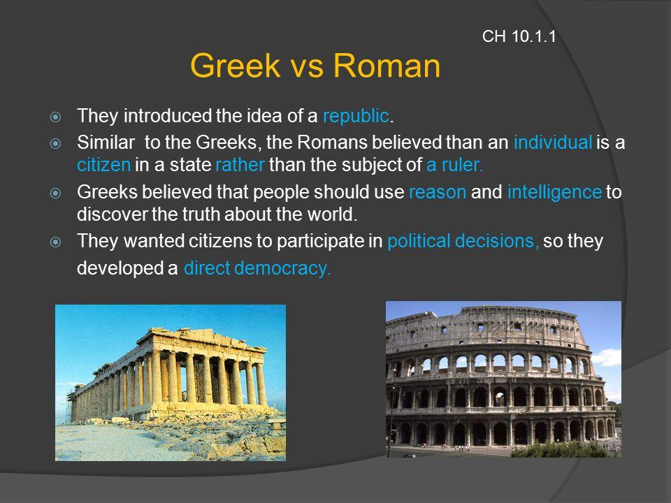 greek vs roman architecture