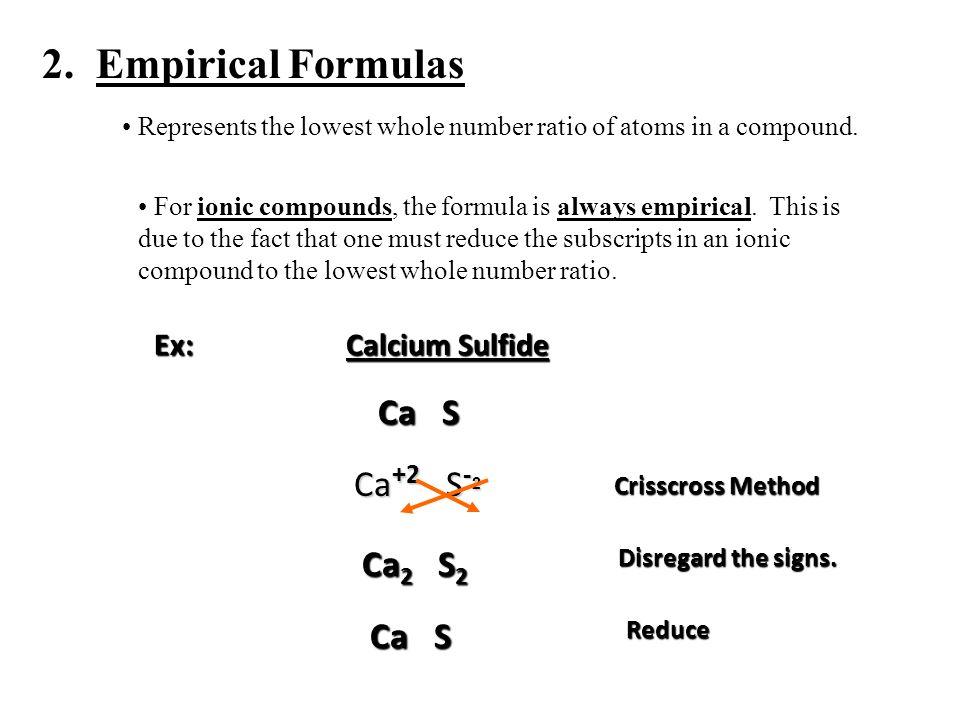Chemical Reactions I Formulas Achemical Formula Represents The