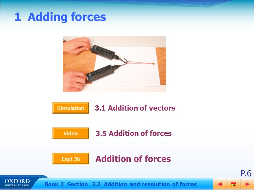 P 1 Book 2 Section 3 3 Addition and resolution of forces 3 3