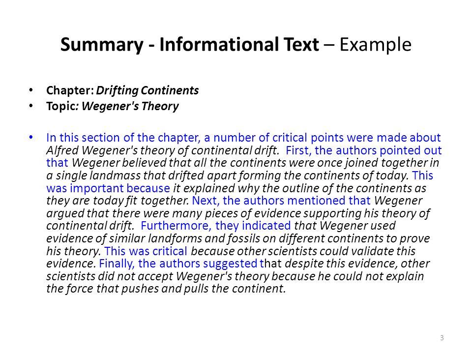 topic summary example