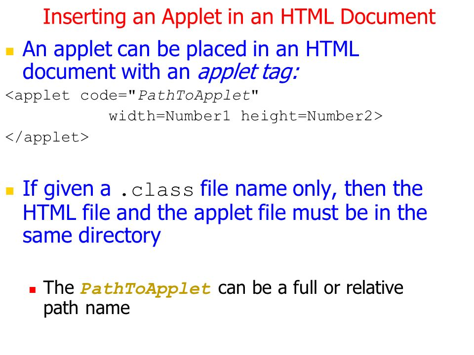 1 applets programming. Introduction java programs are divided into.