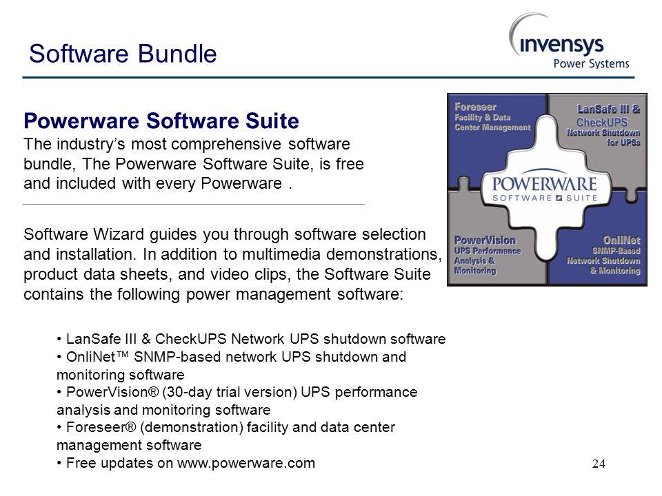 1 Powerware VA – 3kVA Nonstop perfect power for networks, web