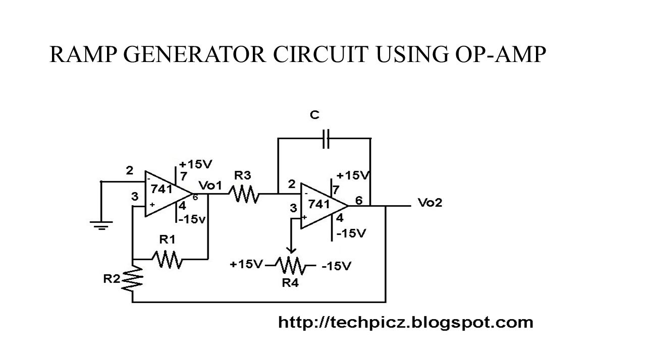 Non Linear Ic Application Using Op Amp Name Roll No Rohan V Triangular Wave Generator Circuit 7 Ramp