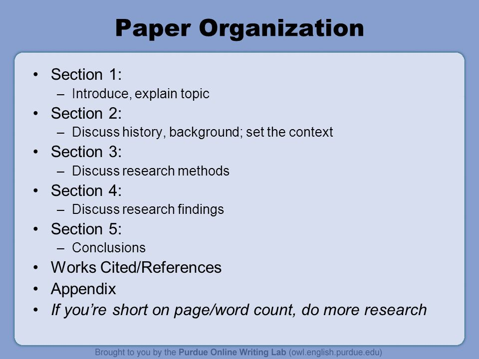 list of resources at the end of a research paper Remember that in college writing, research papers, term papers, and research essays are not simply a repetition of what you have read rather, they are essays: in them, you express your beliefs about the topic and explain how your research has led you to those beliefs citing that research material to support your argument.