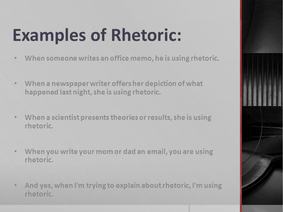 A Short Introduction To Rhetoric Rhetoric Is The Art Of Using