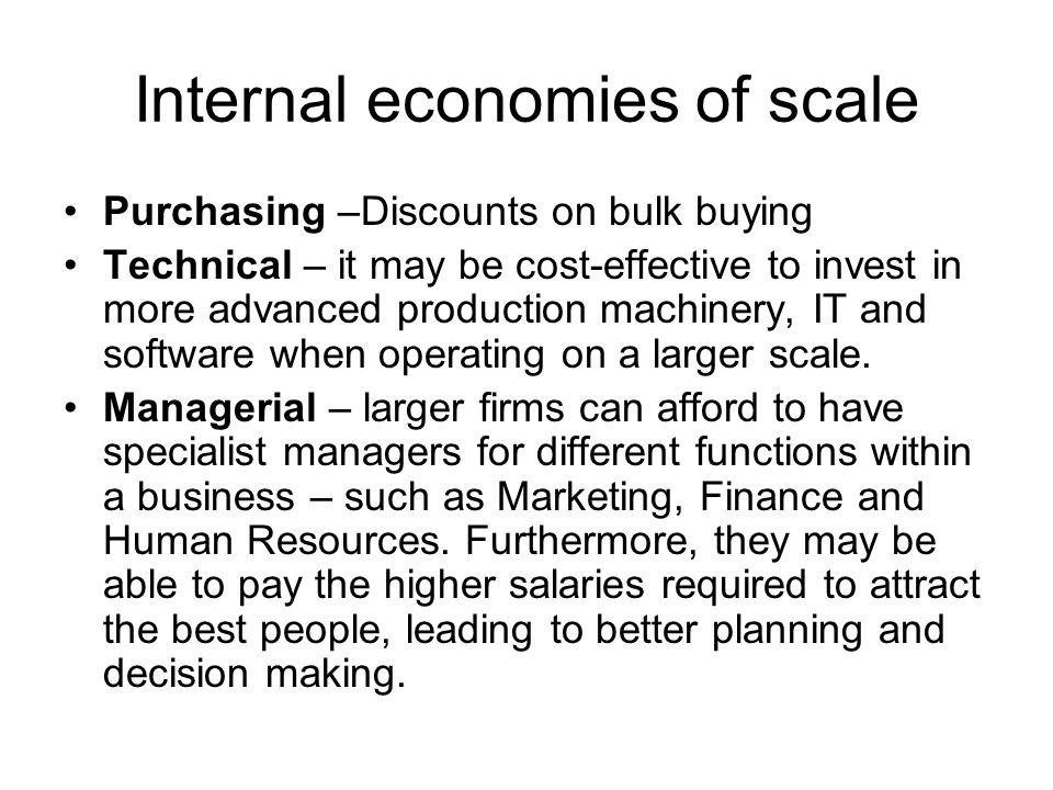 internal economies definition