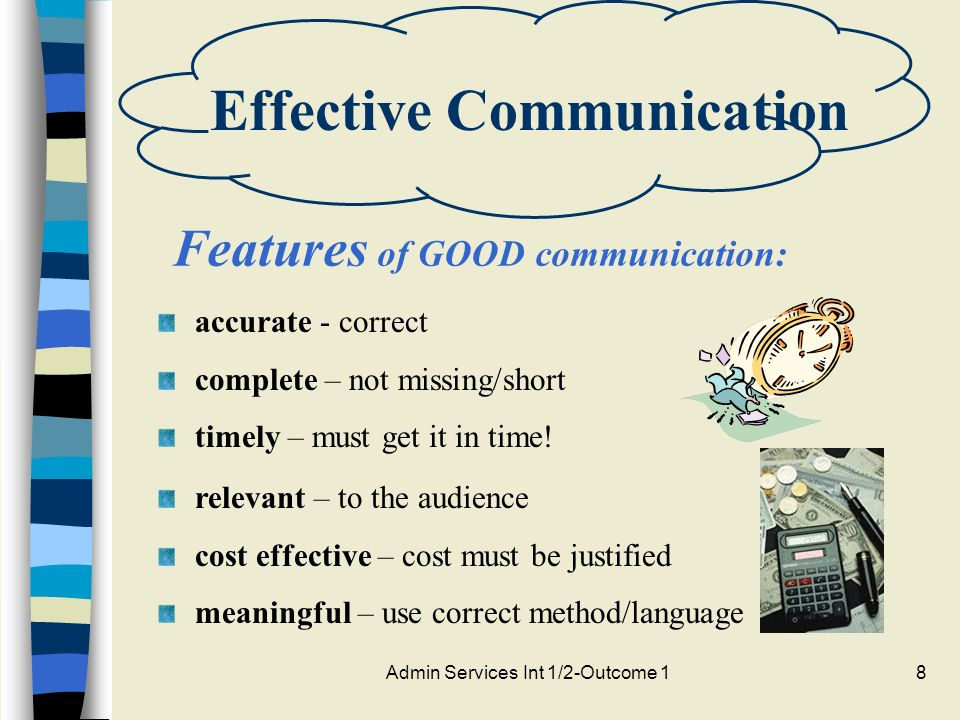 features of effective communication