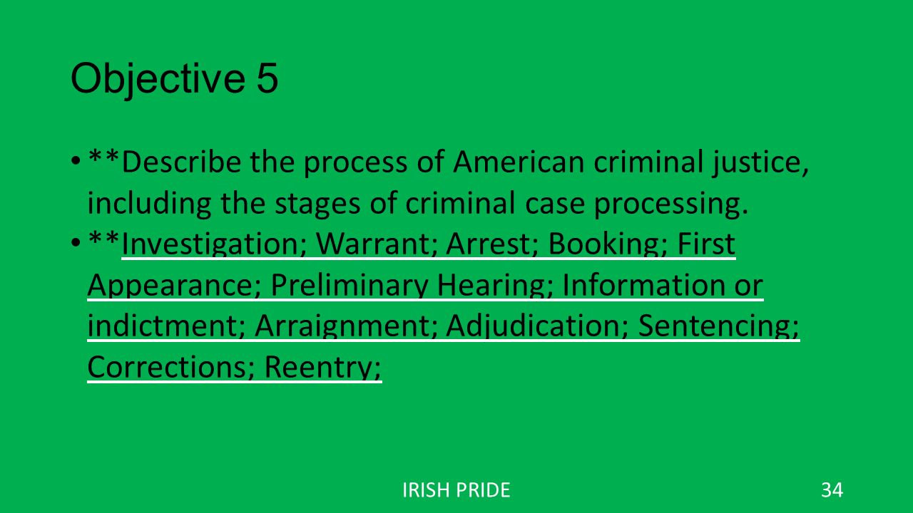 criminal justice chapter 1 objective 1 – summarize the history of