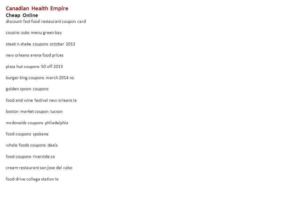 Pleasing Canadian Health Empire Cheap Online Discount Fast Food Download Free Architecture Designs Xerocsunscenecom
