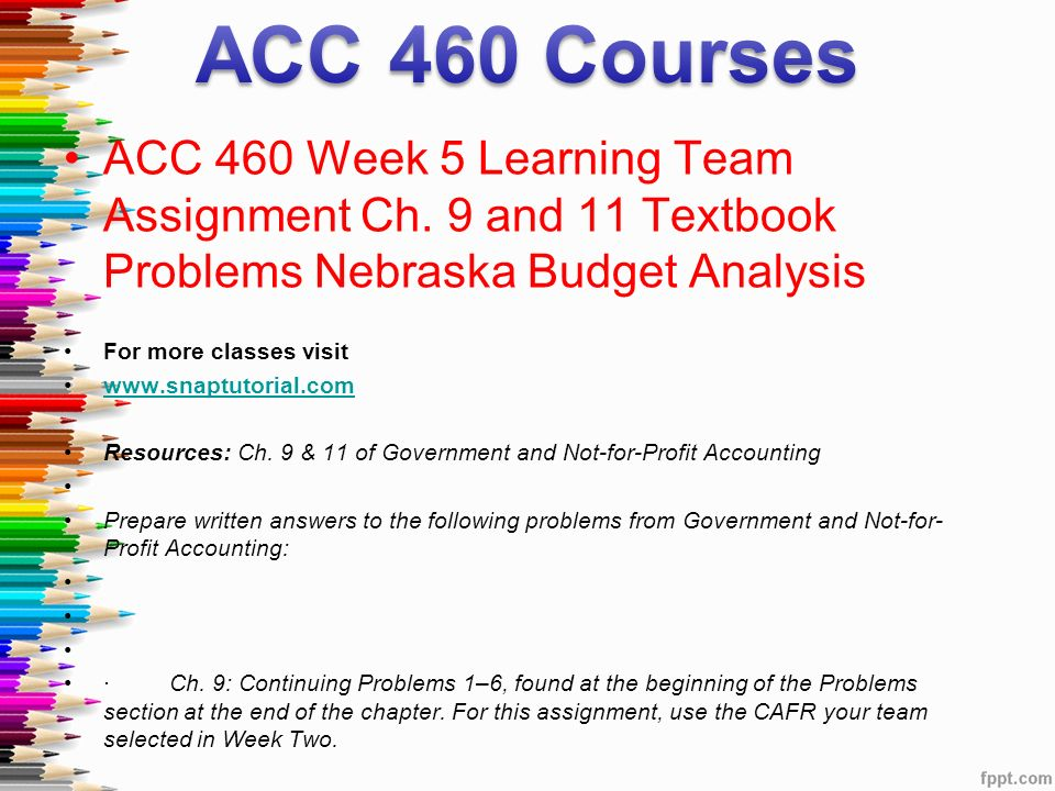ACC 460 Entire Course For More Classes Visit ACC 460Week 1