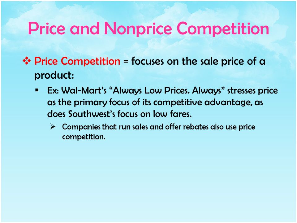 what is the difference between price and nonprice competition