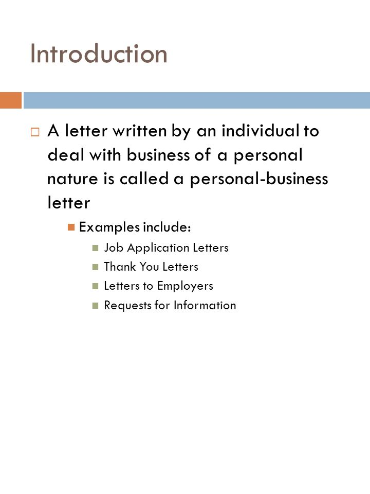 learn to write personal business letters tech career apps errickson 2 introduction