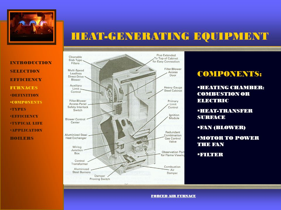 HEAT-GENERATING EQUIPMENT INTRODUCTION SELECTION EFFICIENCY FURNACES ...