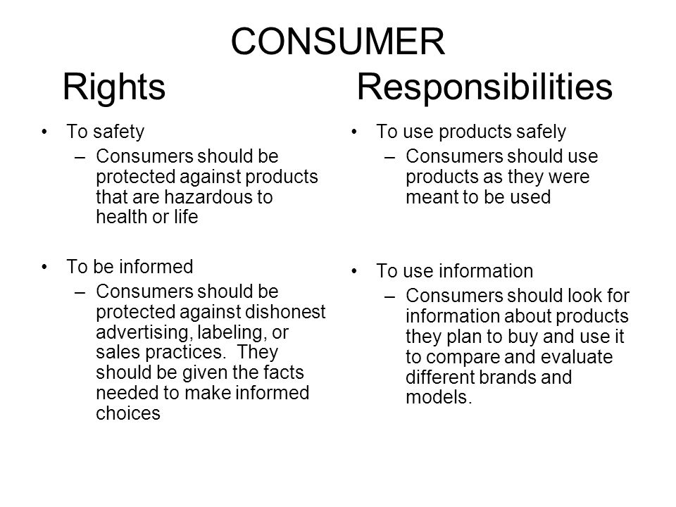 Ppt consumer rights and responsibilities powerpoint presentation.