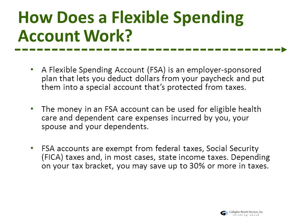 f42d97b63a Agenda Open Enrollment Overview Flexible Spending Account (FSA ...